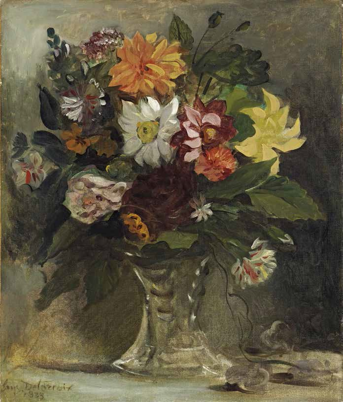 Delacroix, A Vase of Flowers, 1833.