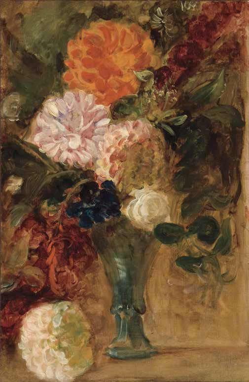 Delacroix, Still Life with Dahlias, ca. 1833.