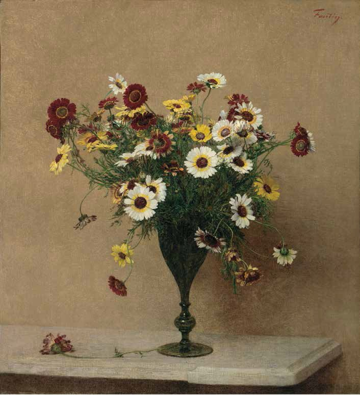 Henri Fantin-Latour, Chrysanthamums, ca. 1889.