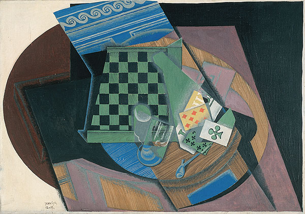 Juan Gris, Checkerboard and Playing Cards, 1915. Collection of the National Gallery of Australia.