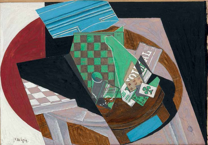 Juan Gris, Checkerboard and Playing Cards, 1915.