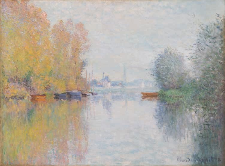Claude Monet, Autumn on the Seine, Argenteuil, 1873.