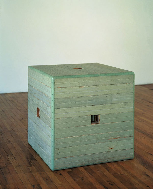 Jackie Winsor, Green Piece, 196-77. Collection of the Modern Art Museum of Fort Worth.