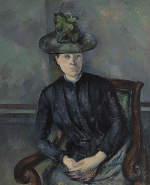 Paul Cezanne, Madame Cezanne with a Green Hat, ca. 1891-92. Collection of the Barnes Foundation, formerly of Merion, Penn.