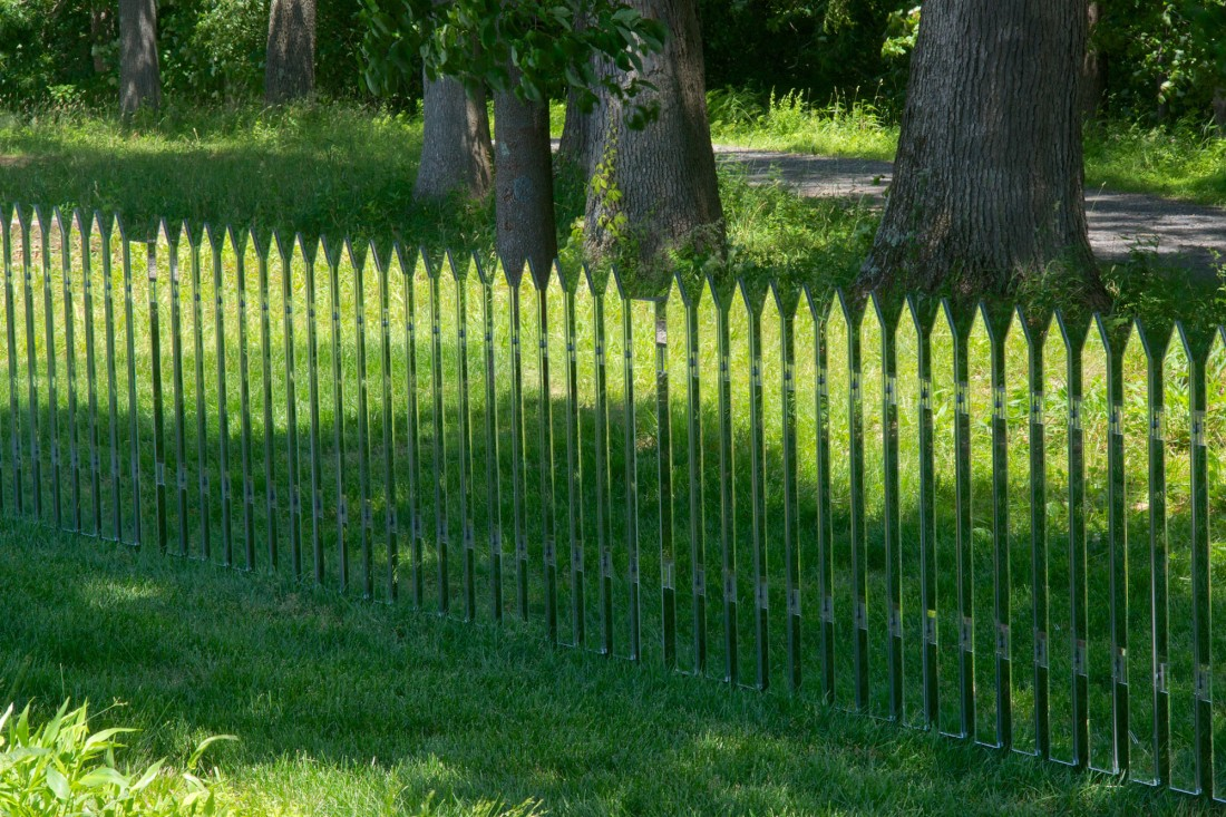 Alyson Shotz, Mirror Fence 2003-14.