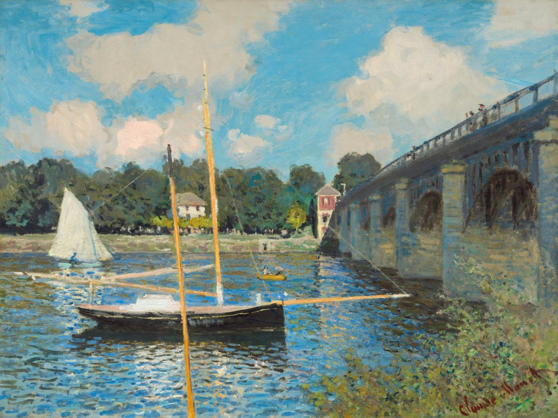 Claude Monet,  The Bridge at Argenteuil, 1874.