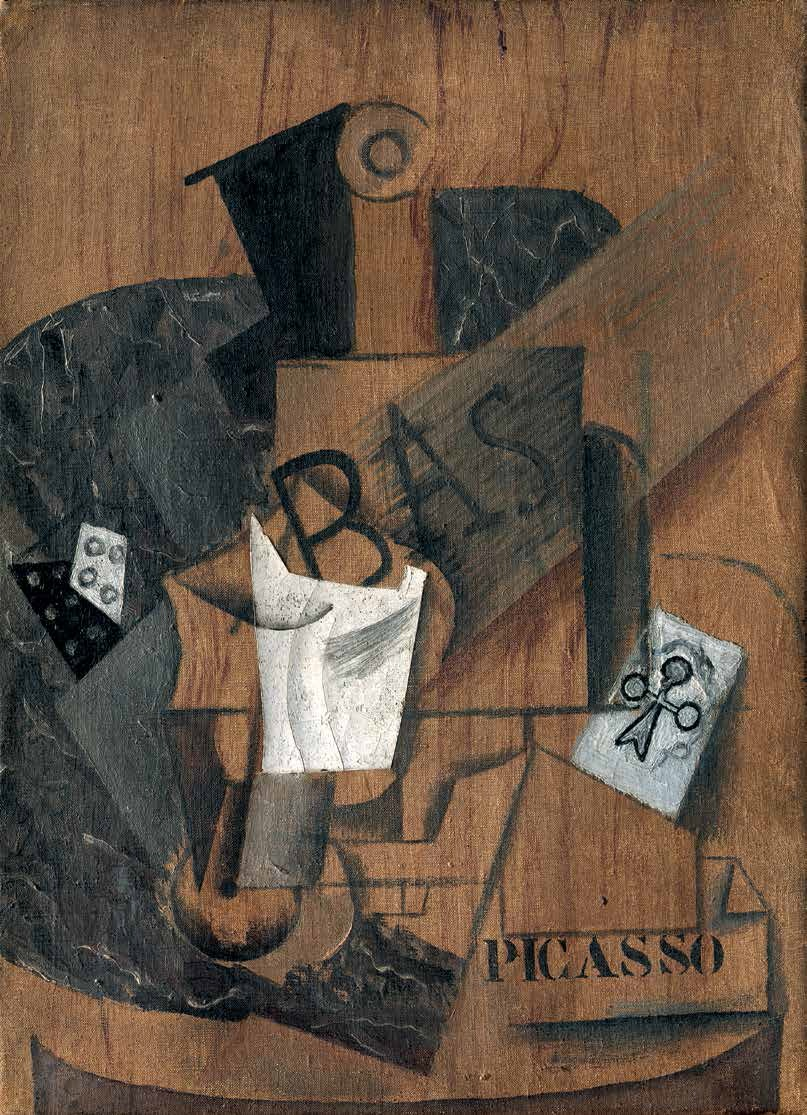 Pablo Picasso, Battle of Bass and Glass, 1914.