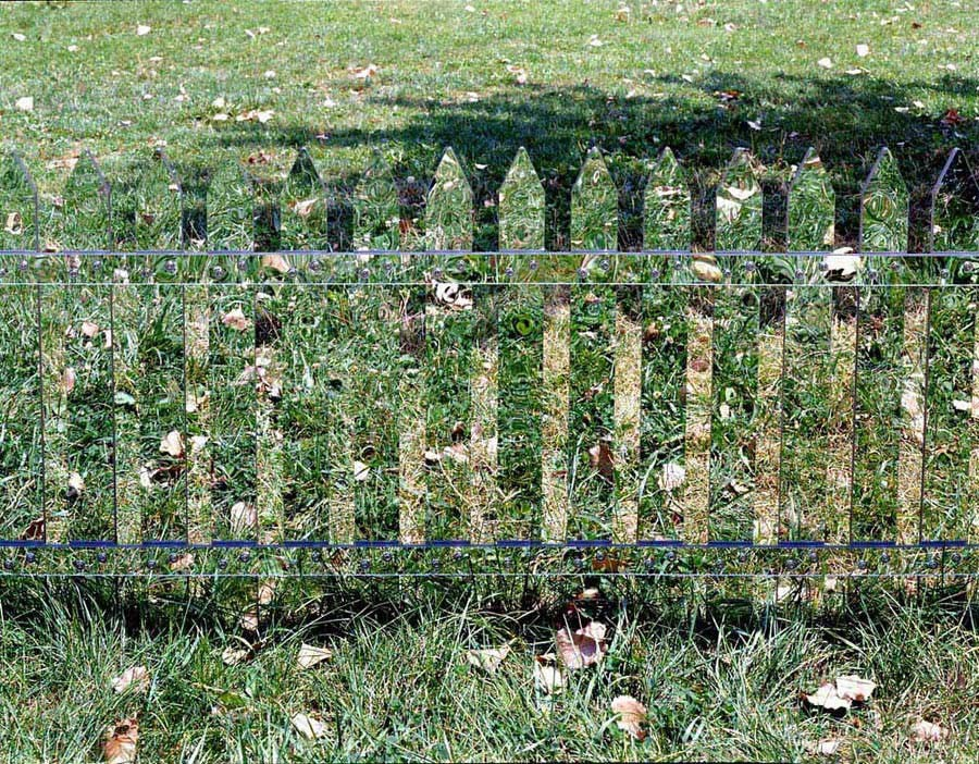Alyson Shotz, Mirror Fence, 2003.