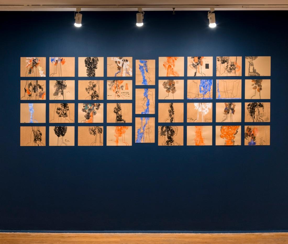 Installation view of Kianja Strobert. Photo: Adam Reich.