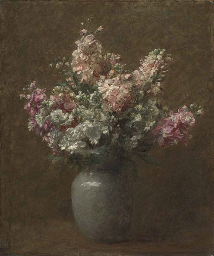 Victoria Dubourg Fantin-Latour, Still-Life with White and Pink Stock, late 19thC/early 20thC.