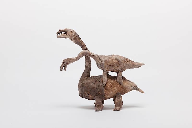 Francis Upritchard, Piled Flipper Dinosaurs, 2014.