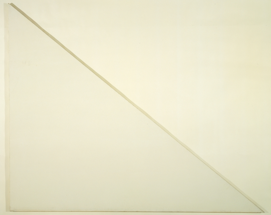 Barnett Newman, Unfinished painting (The Sail), 1970. The Menil Collection, Houston.