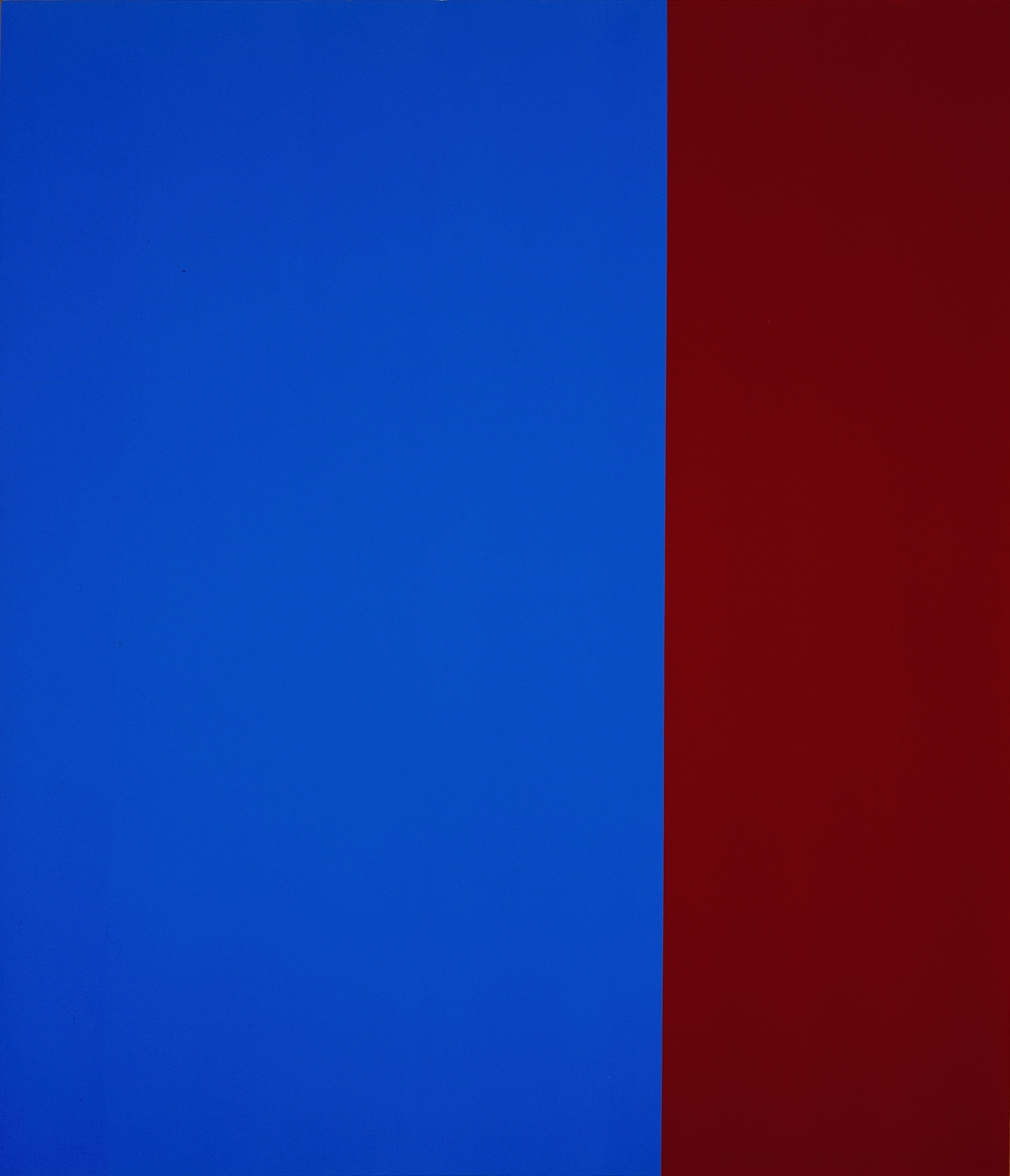 Barnett Newman, Unfinished painting, 1970. The Menil Collection, Houston.