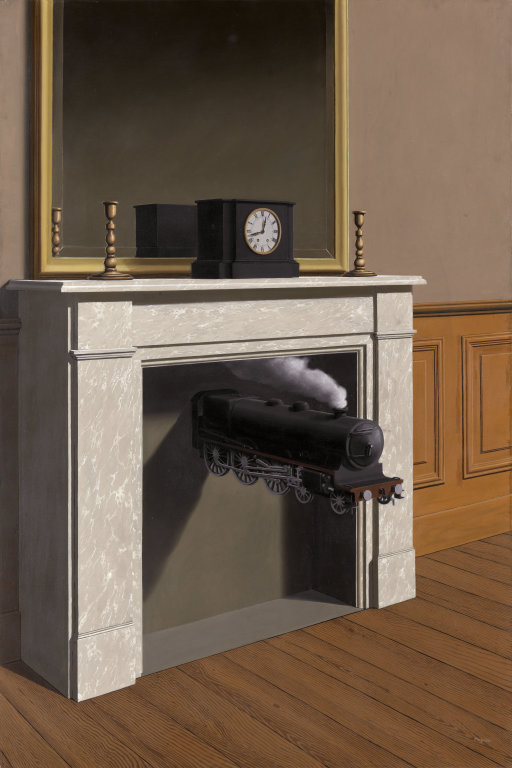 Rene Magritte, Time Transfixed, 1938. Collection of the Art Institute of Chicago.