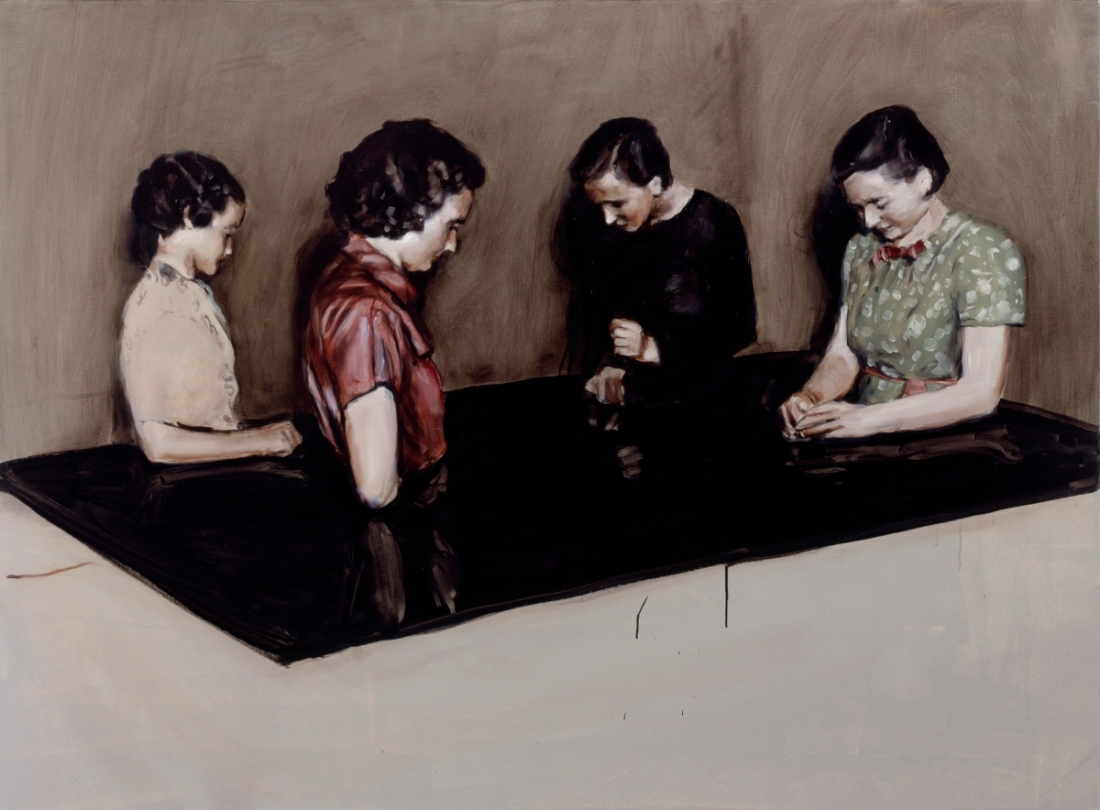 Michaël Borremans, Four Fairies, 2003.