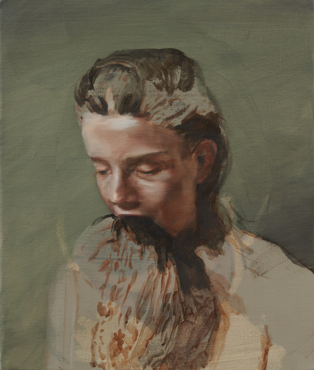 Michaël Borremans, Eating the Beard, 2010.