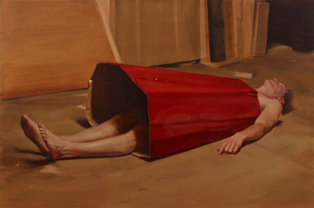Michaël Borremans, The Devil's Dress, 2011. Collection of the Dallas Museum of Art.