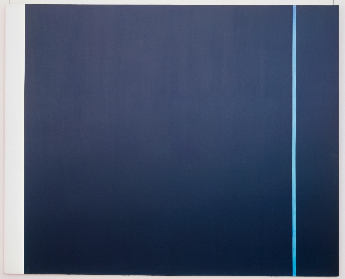 Barnett Newman, Midnight Blue, 1970. Collection of the Ludwig Museum, Cologne.