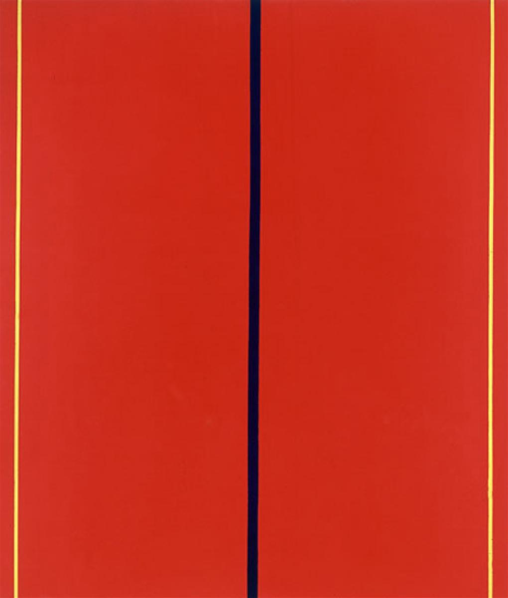 Barnett Newman, Who's Afraid of Red, Yellow and Blue II, 1967. Collection of the  Staatsgalerie Stuttgart.