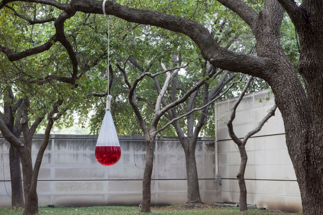 Sadamasa Motnoga, Work (Water), 1955/2015, installed at the Dallas Museum of Art.