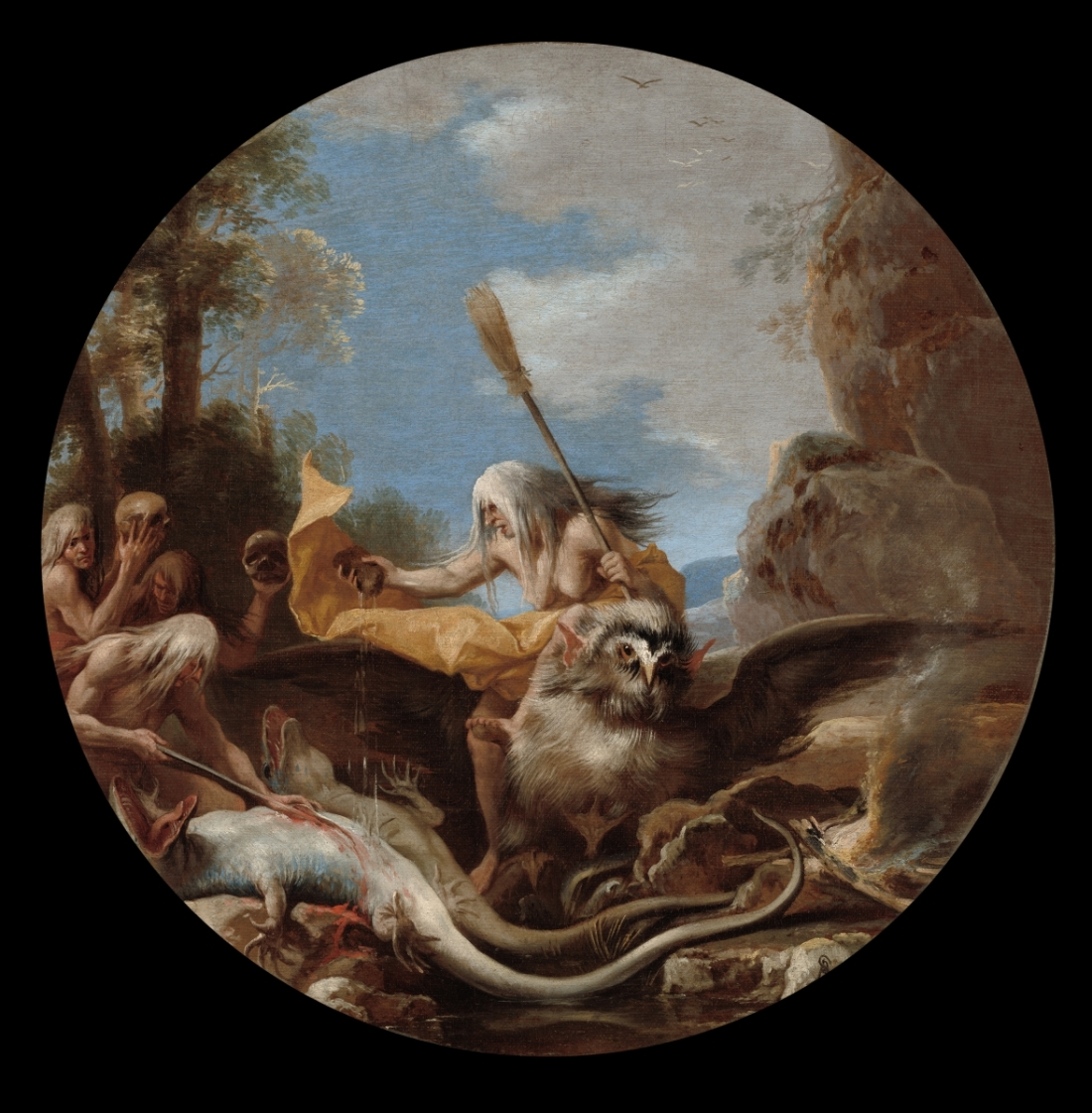Salvator Rosa, Scene with Witches: Day, 1645-59. Collection of the Cleveland Museum of Art.