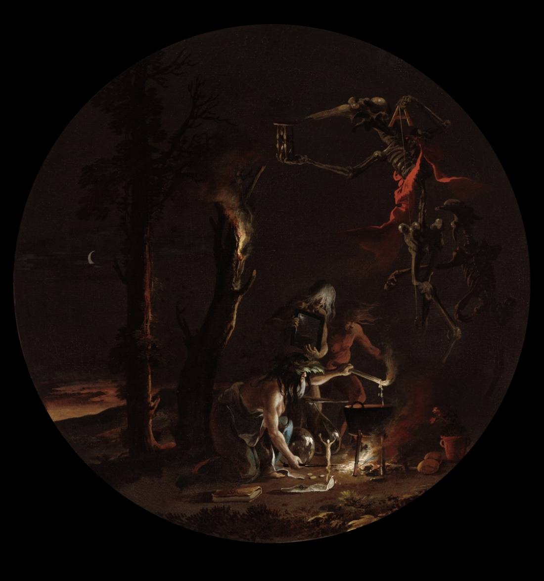 Salvator Rosa, Scene with Witches: Evening, 1645-59. Collection of the Cleveland Museum of Art.
