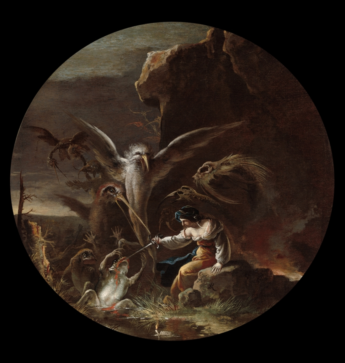 Salvator Rosa, Scene with Witches: Morning, 1645-59. Collection of the Cleveland Museum of Art.