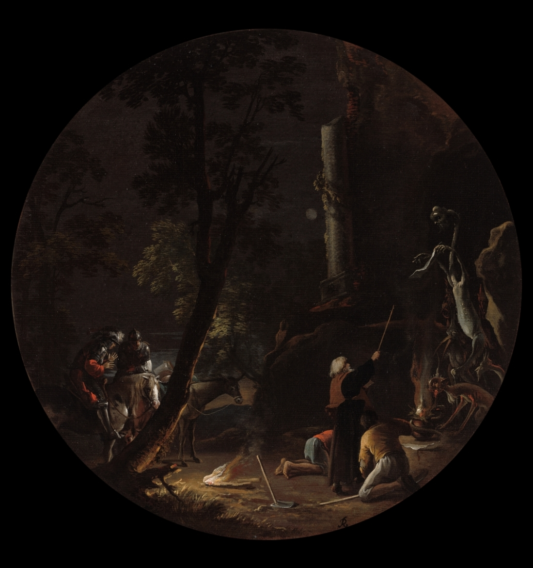 Salvator Rosa, Scene with Witches: Night, 1645-59. Collection of the Cleveland Museum of Art.