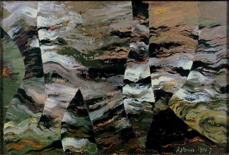 Kazuo Shiraga, Rumyaku 1, 1953.