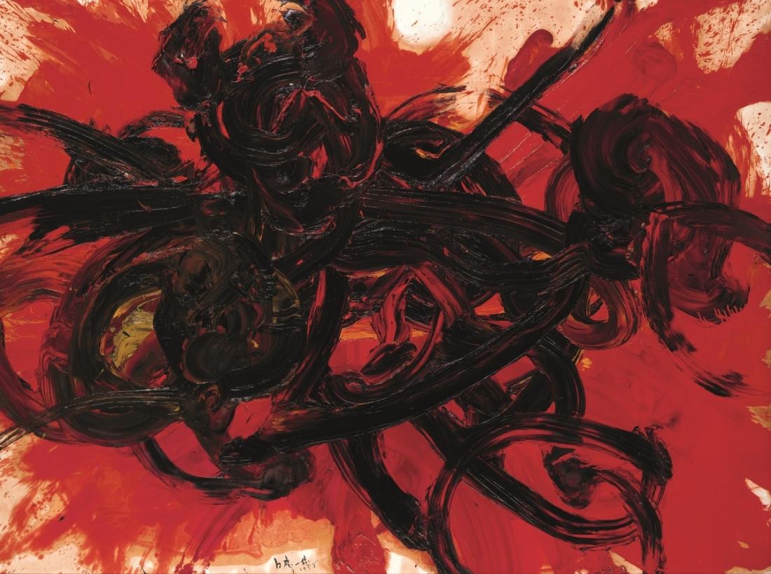 Kazuo Shiraga, Work II, 1958.
