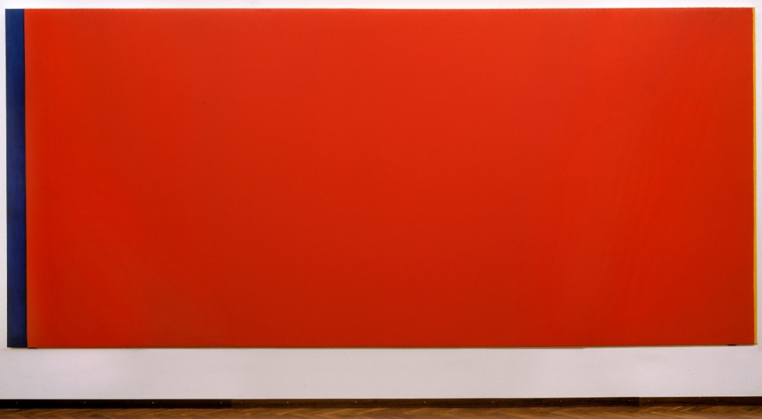 Barnett Newman, Who's Afraid of Red, Yellow and Blue III, 1967-68. Collection of the Stedelijk Museum, Amsterdam.