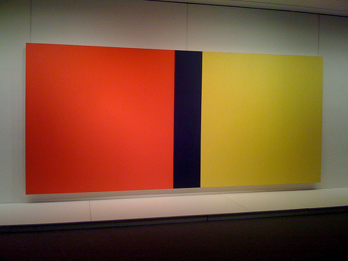 Barnett Newman, Who's Afraid of Red, Yellow and Blue IV, 1969-70. Collection of the Nationalgalerie, Berlin.