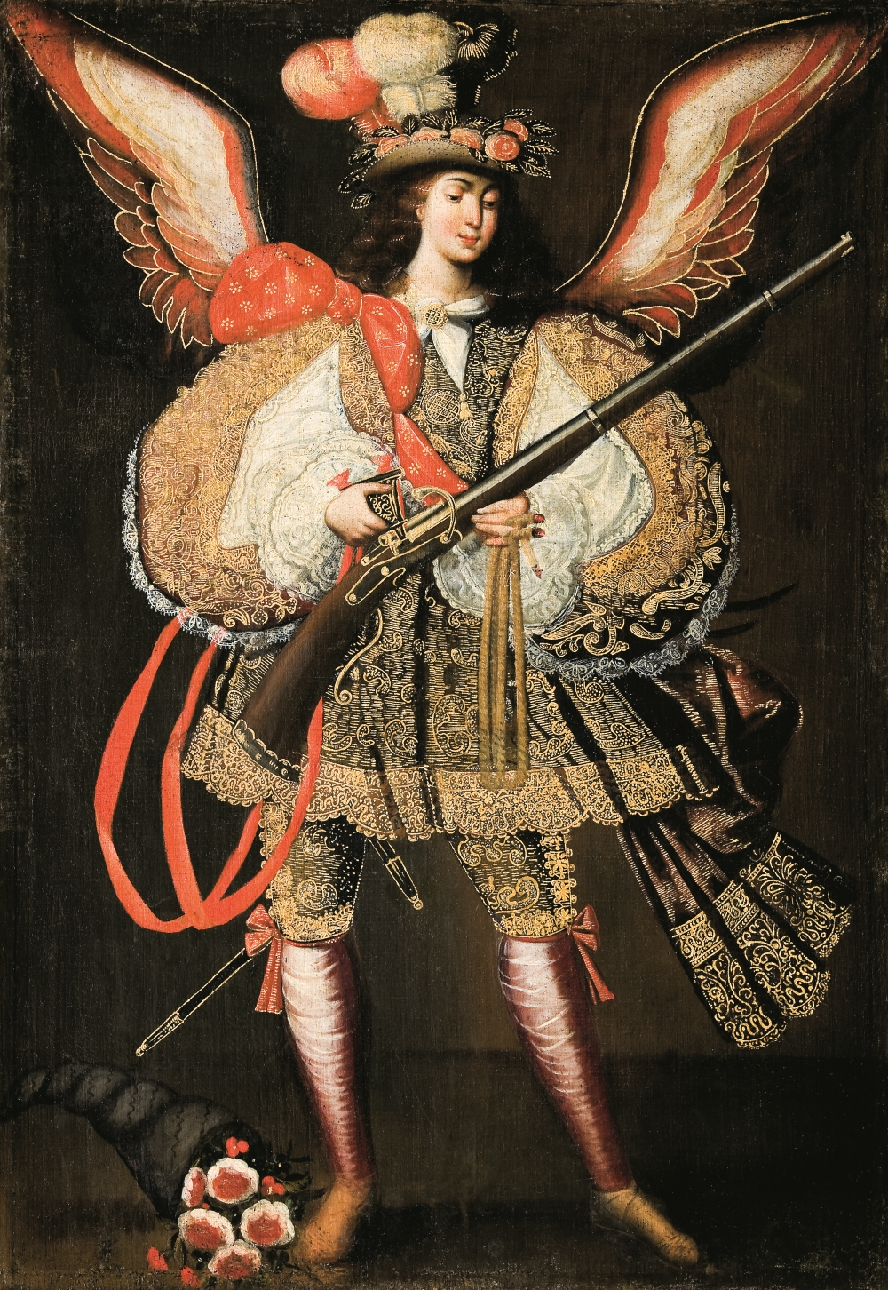 Anonymous Cuzco artist, Archangel with Harquebusier, ca. 1690-1720.