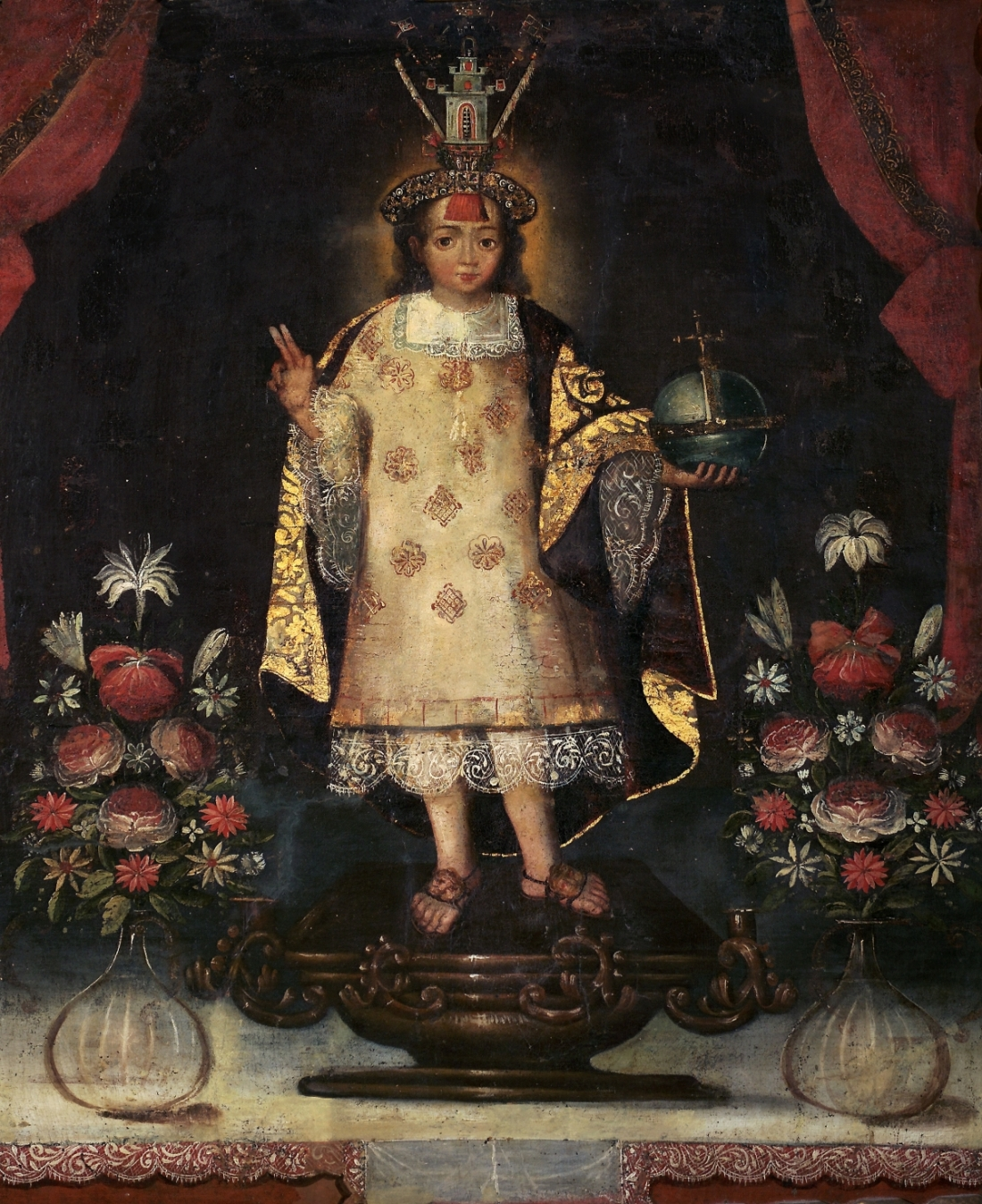 Anonymous, Infant Christ of Huanca Dressed as an Inca, first half of the 18th century.