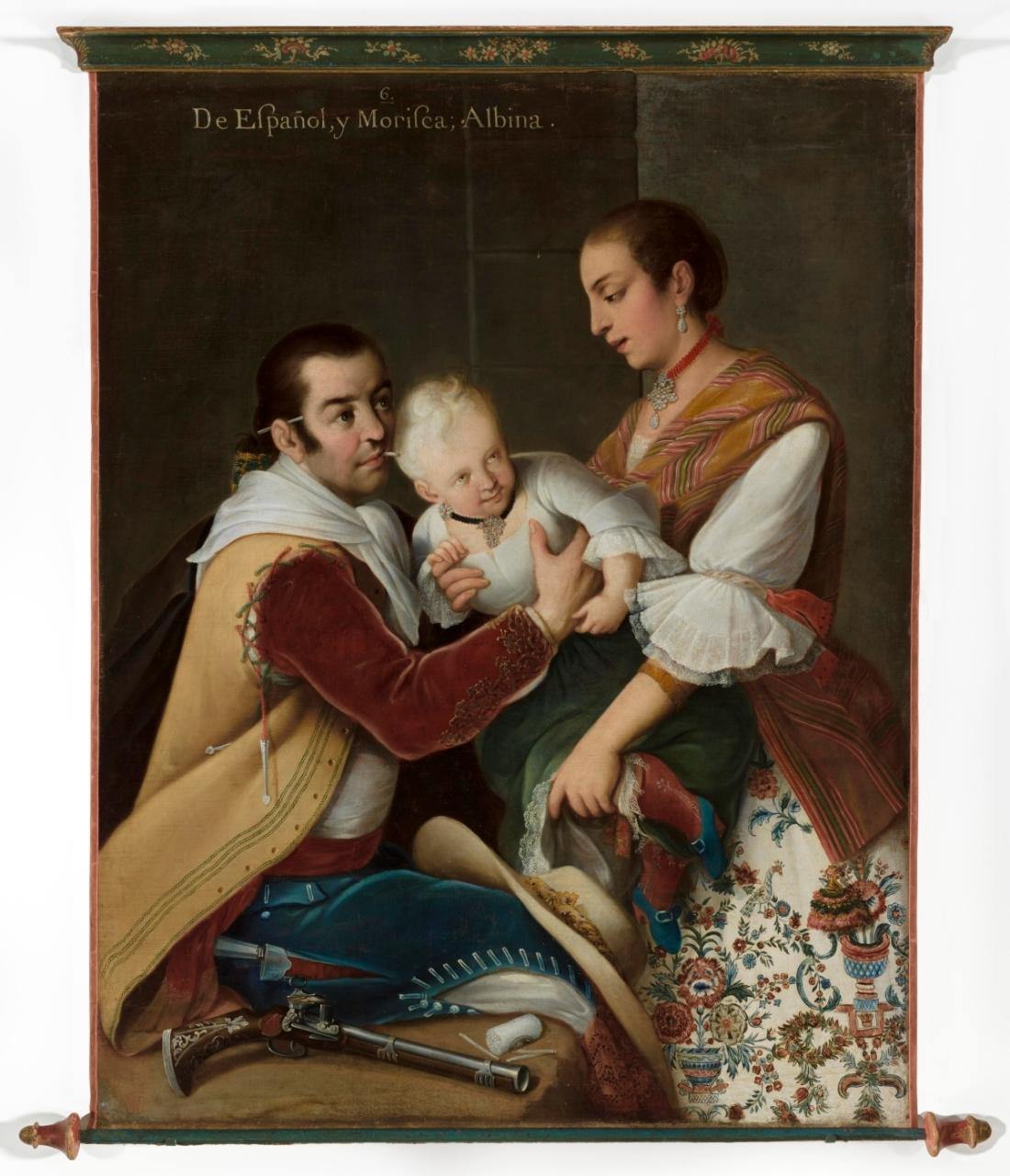 Miguel Cabrera, 6. From Spaniard and Morisca, Albino Girl (6. De español y morisca, albina), 1763.