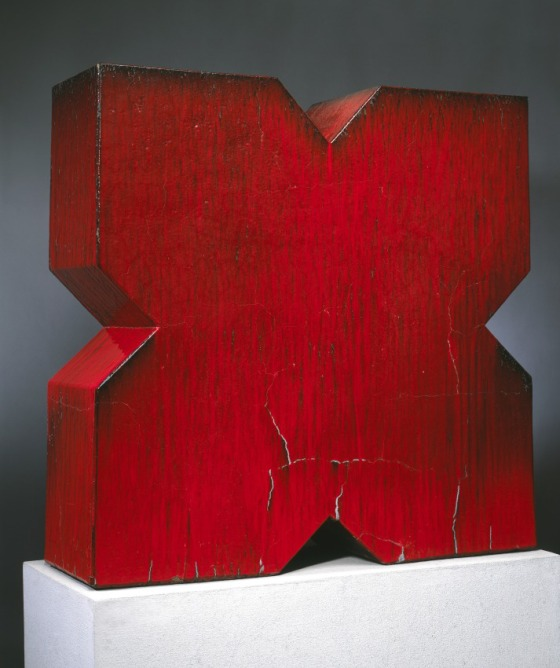John Mason, Red X, 1966. Collection of the Los Angeles County Museum of Art.