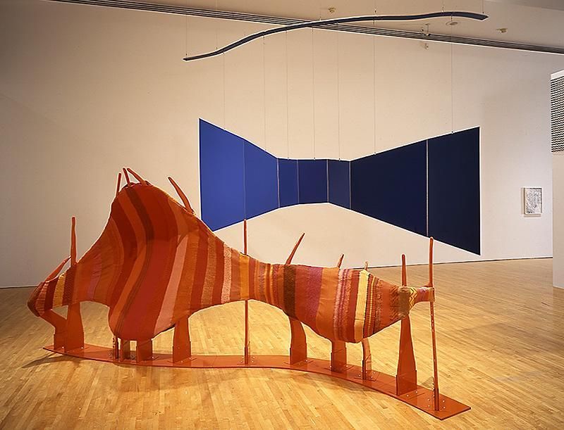 Liz Larner, Corridor [Orange/Blue], 1991.