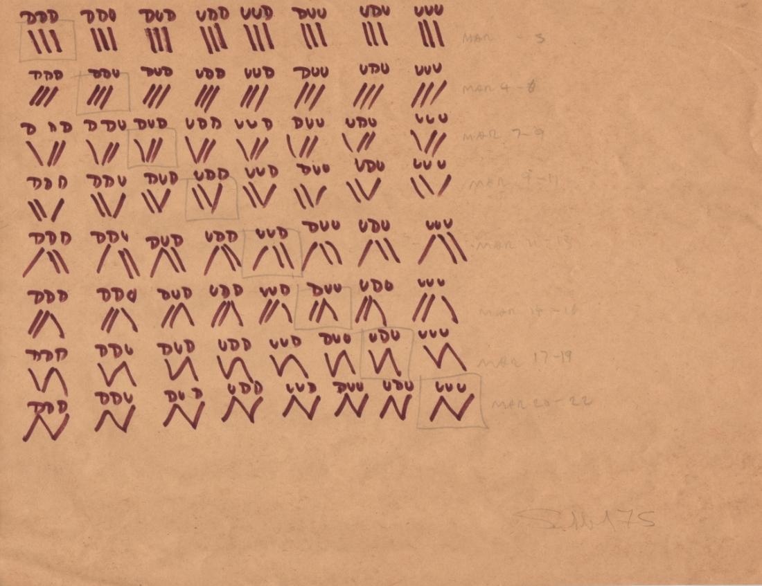 Fred Sandback, Untitled (Kunstraum Munich), 1975.