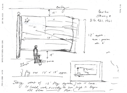 William Pope.L, Preliminary sketches for Trinket, 2007-08.