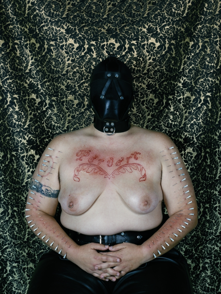 Catherine Opie, Self-Portrait (Pervert), 1994.