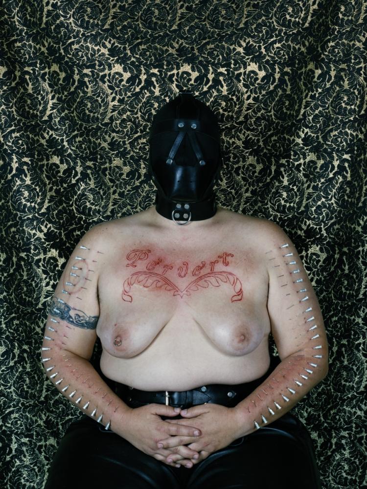 Catherine Opie, Self-Portrait (Pervert), 1994.