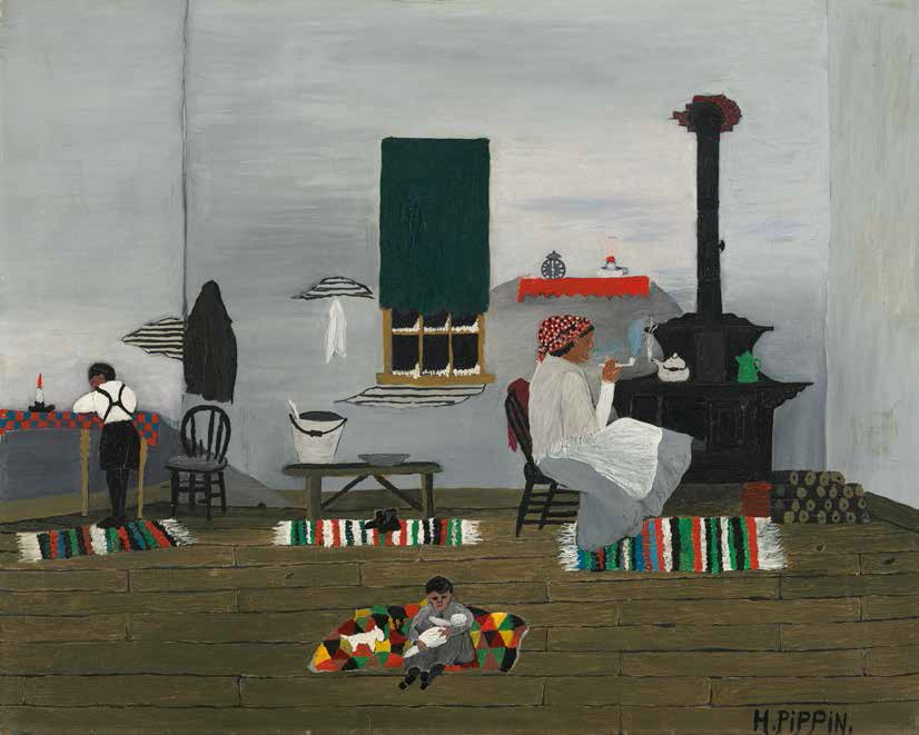 Horace Pippin, Interior, 1944.