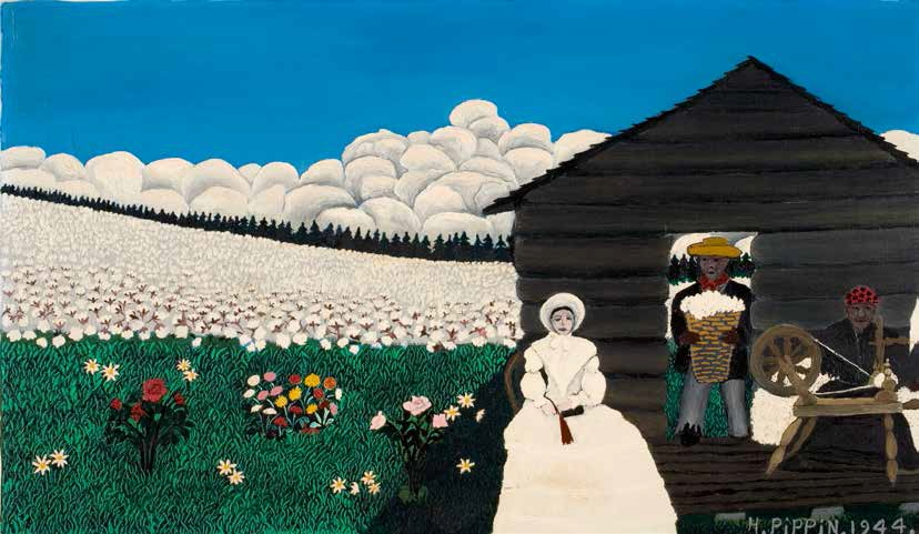 Horace Pippin, Old King Cotton (also known as Cabin in the Cotton IV), 1944.