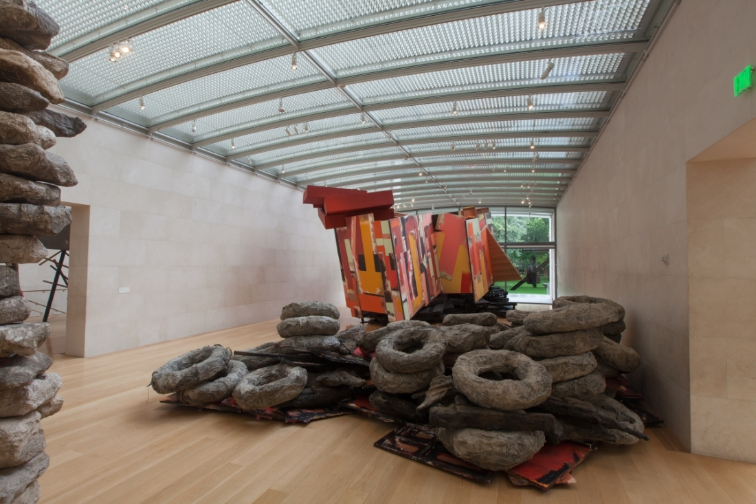 "Installation view of Phyllida Barlow, ""tryst,"" at the Nasher Sculpture Center, Dallas."