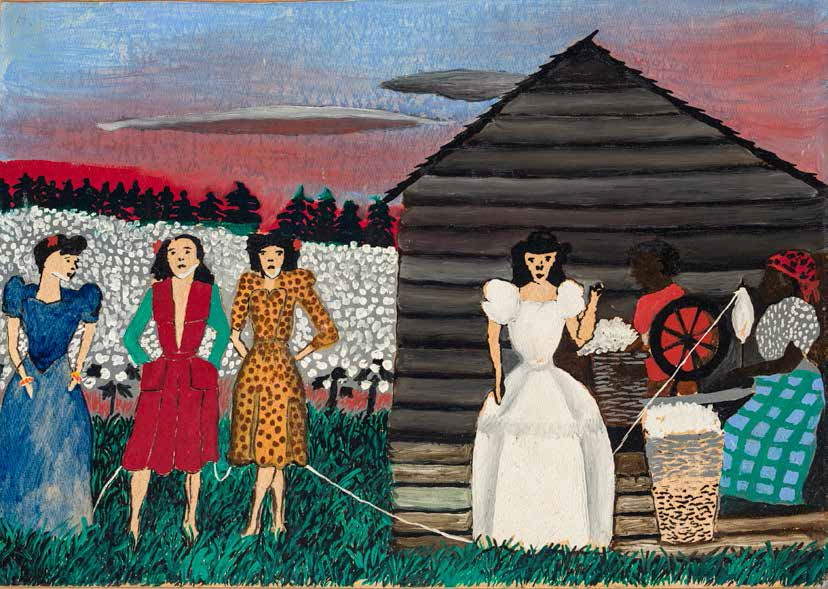 Horace Pippin, Study for Old King Cotton (also known as Old Queen Cotton and Study for Vogue), 1944.