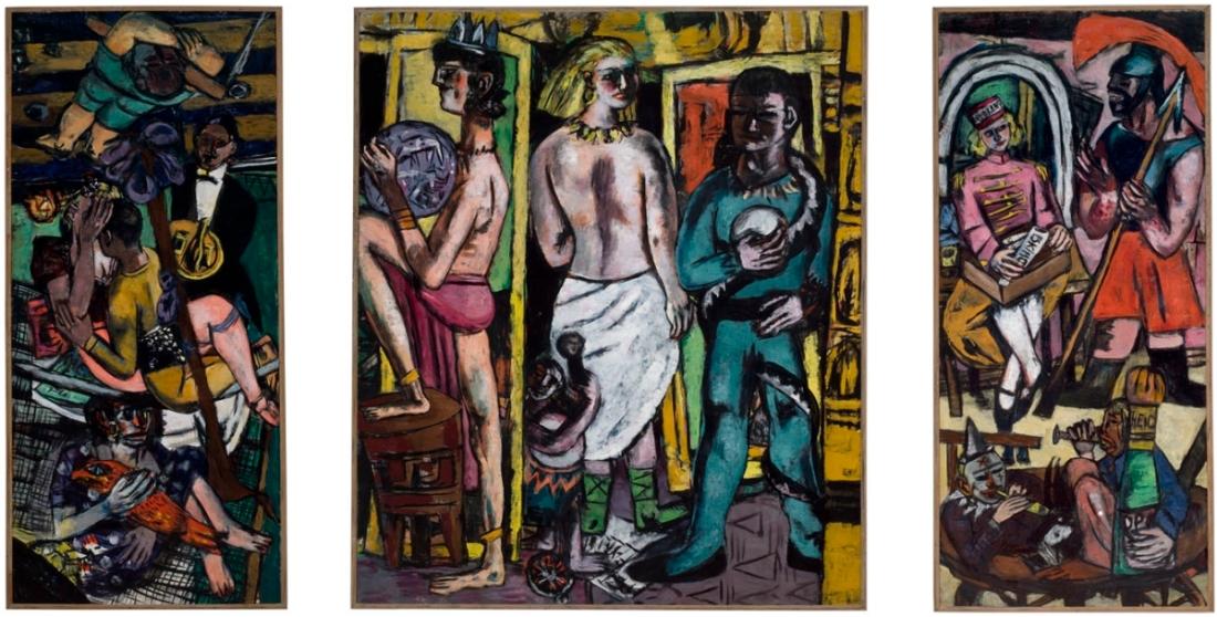 Max Beckmann, Acrobats, 1939.