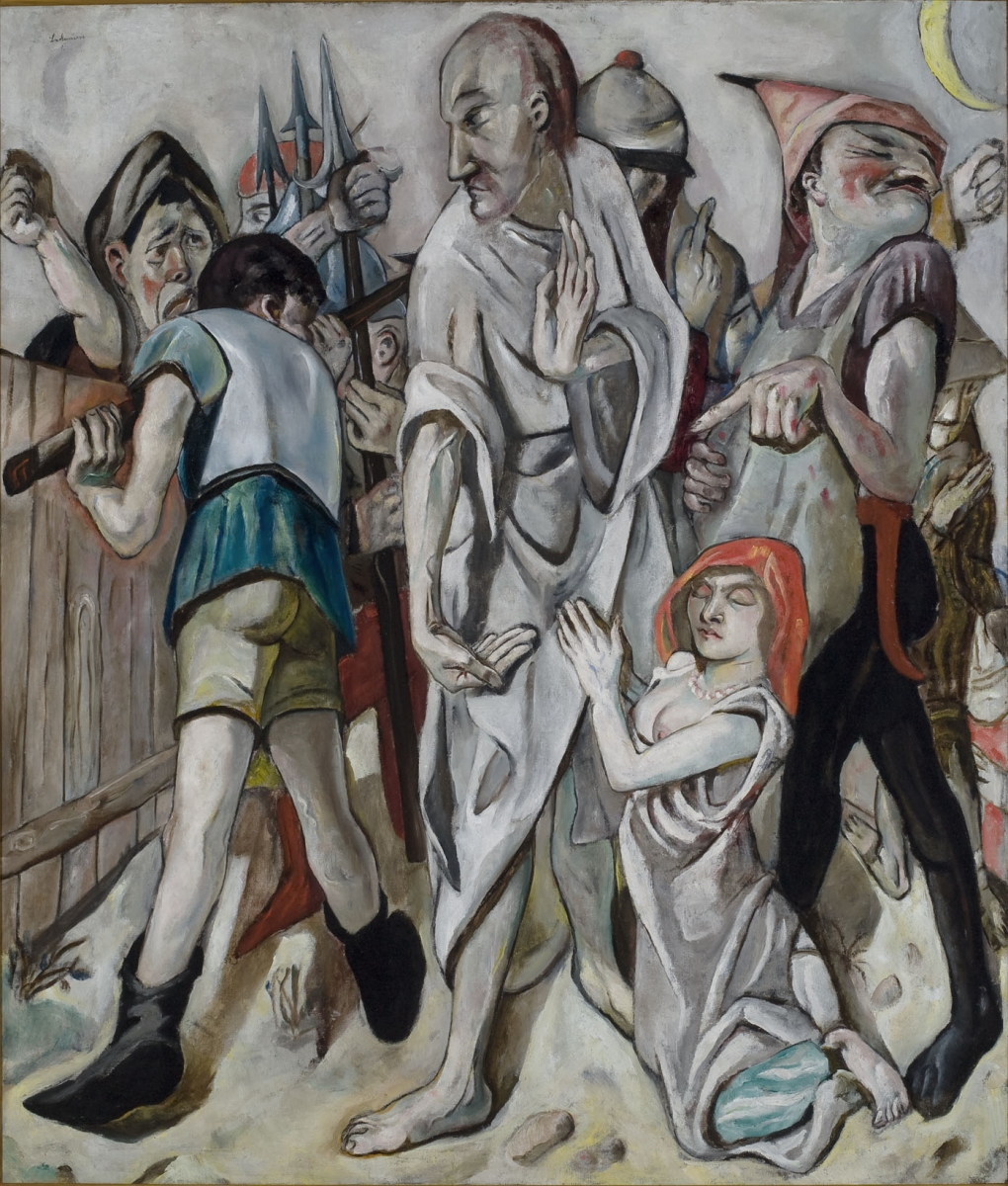 Max Beckmann, Christ and the Woman Taken in Adultery, 1917.