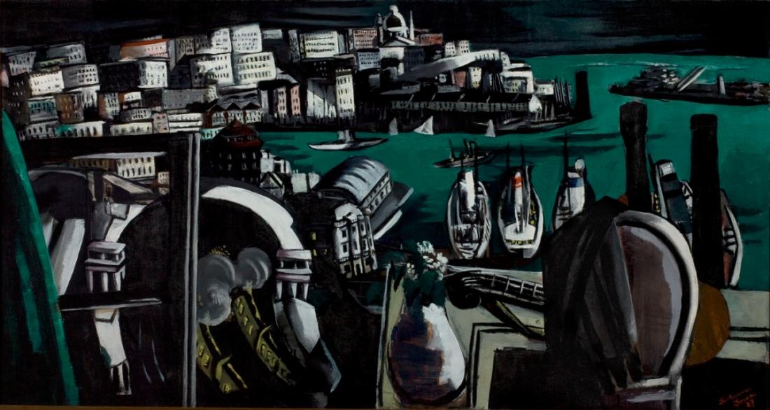 Max Beckmann, The Harbor of Genoa, 1927.