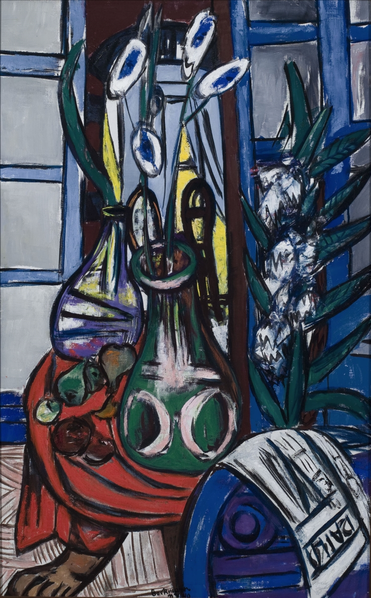 Max Beckmann, Large Still Life Interior (Blue), 1949.