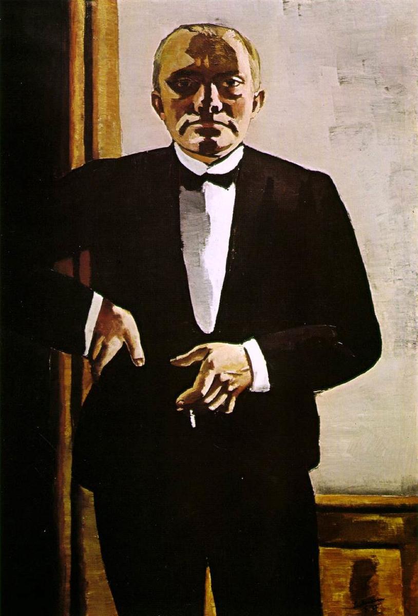 Max Beckmann, Self-Portrait in a Tuxedo, 1927.